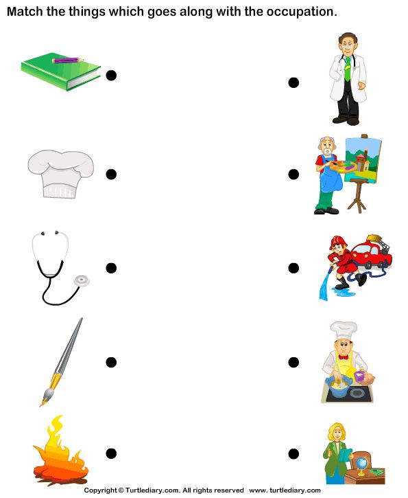 Download and print Turtle Diary's Match Objects with Occupation worksheet. Our large collection of ela worksheets are a great study tool for all ages.