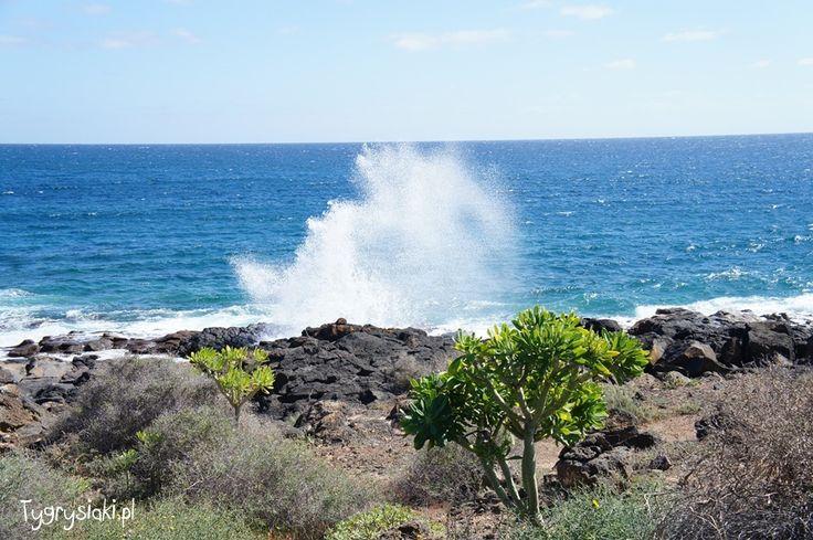 Morze uderza o brzeg Lanzarote Visit my blog: http://tygrysiaki.pl/