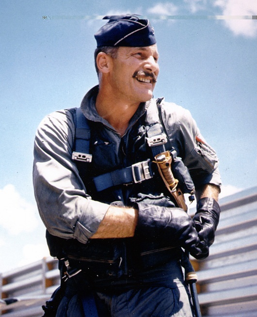 Robin Olds and mustache.