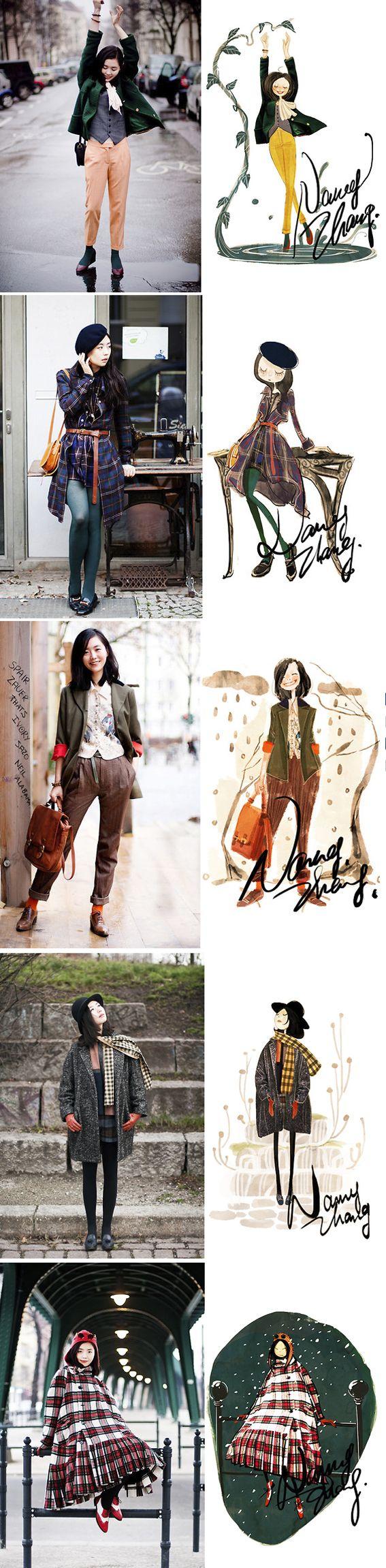 Nancy Zhangs drawings  http://www.xiaoxizhang.com/