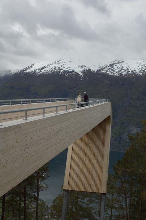 Stegastein, Aurland Lookout - National Tourist Routes in Norway, Aurlandsvangen, 2006 - Sivilarkitekt MNAL Tommie Wilhelmsen, Saunders Architecture
