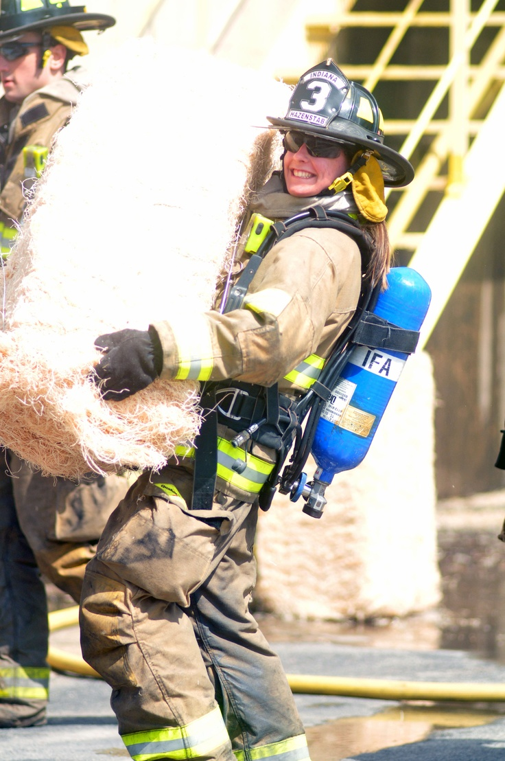 IFA Company Three Firefighter Cate Hazenstab pulling her own weight!
