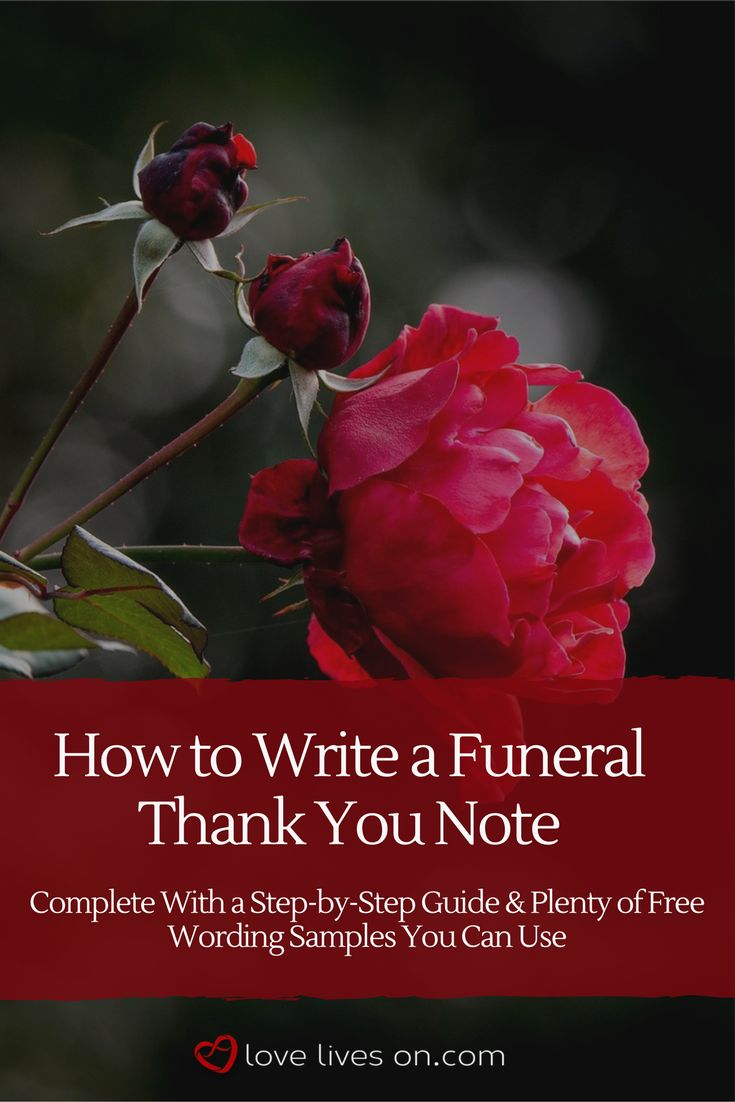 Writing thank you cards for funeral