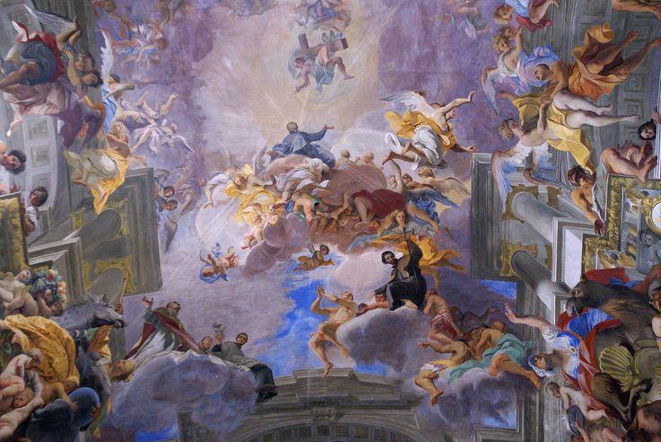 Rom, Sant'Ignazio di Loyola, Trompe-l'oeil Deckenfresko von Andrea Pozzo (Trompe-l'oeil ceiling fresco by Andrea Pozzo)   da HEN-Magonza