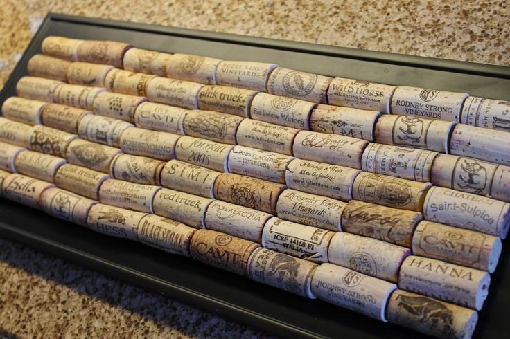 Wine Cork Trivet   #wine #DIY #crafts