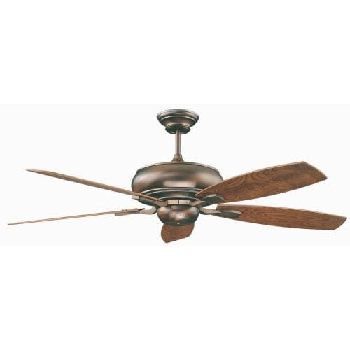 Concord 60RS5 Roosevelt 60 5 Blade Indoor Ceiling Fan with Blades and Downrod Included (stainless steel / chrome and rosewood blades (Silver/Chrome And Rosewood Blades))