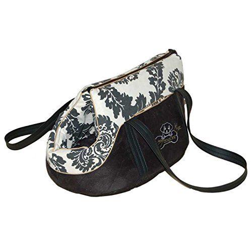 """Aus der Kategorie Boxen & Tragetaschen  gibt es, zum Preis von   Die Hundetragetasche aus Stoff """"My Castle"""" Black & White von My Dogone ist eine weiche Hundetasche aus schwarzem und weissen Stoff der mit Ornamenten bedruckt ist. Das Innenfutter der Kuscheltasche für Chihuahua & Co ist weich gepolstert. Die edle Hundetragetasche mit Schulterriemen wird mit einem Reissverschluss geschlossen, sie hat am vorderen Bereich eine Öffnung, damit Ihr Hund hinausgucken kann und zur Sicherung Ihres…"""