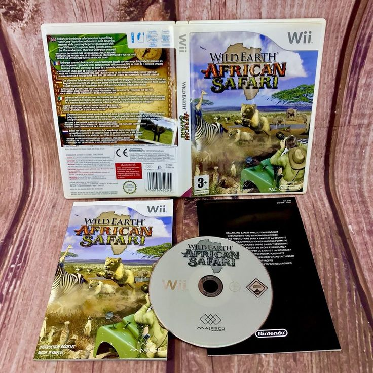 WILD EARTH AFRICAN SAFARI NINTENDO WII WII U PAL COMPLETE 3+ ADVENTURE GAME