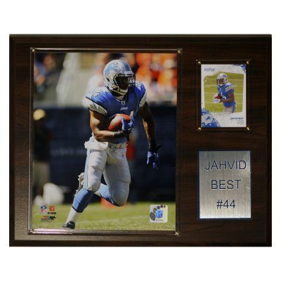 NFL 12 x 15 in. Jahvid Best Detroit Lions Player Plaque - 1215JBEST