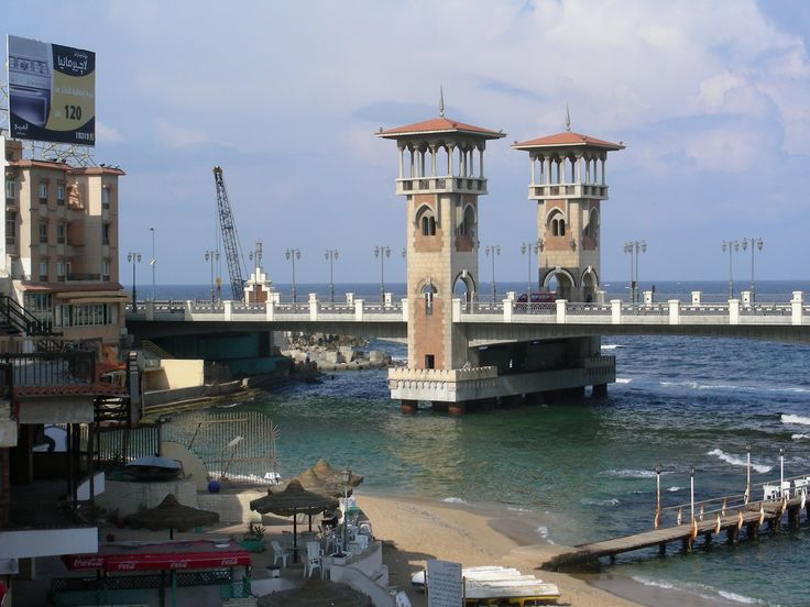 Stanley Bridge along Corniche Road in Alexandria Egypt. See more of Alex here... http://www.fromatravellersdesk.com/2011/10/have-you-travelled-to-alexandria-in.html