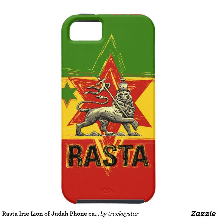 Rasta Irie Lion of Judah Phone case