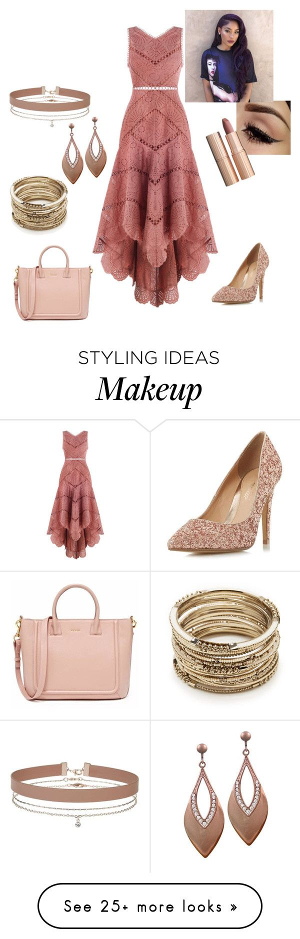 """Untitled #1002"" by angelrocky on Polyvore featuring Zimmermann, Head Over Heels by Dune, Sole Society, Miss Selfridge and Charlotte Tilbury"