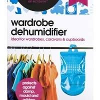 The Wardrobe Dehumidifier works to keep your clothes fresh. Prevents clothes from going mouldy and prevent nasty musty smells.
