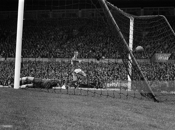 Denis Law scores in 1967 Charity Shield
