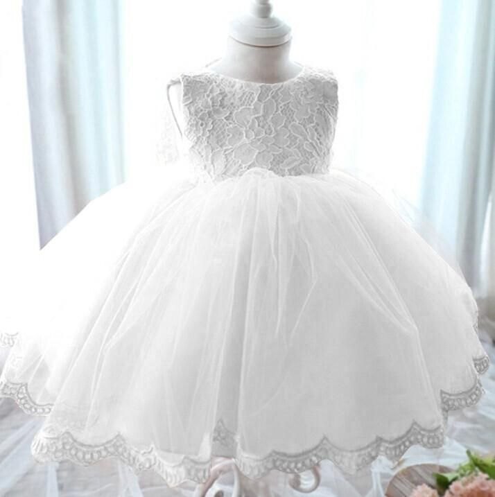 High Quality Girl Dress Christening Dress For Baby Girl Kid Lace Princess Tutu Dresses