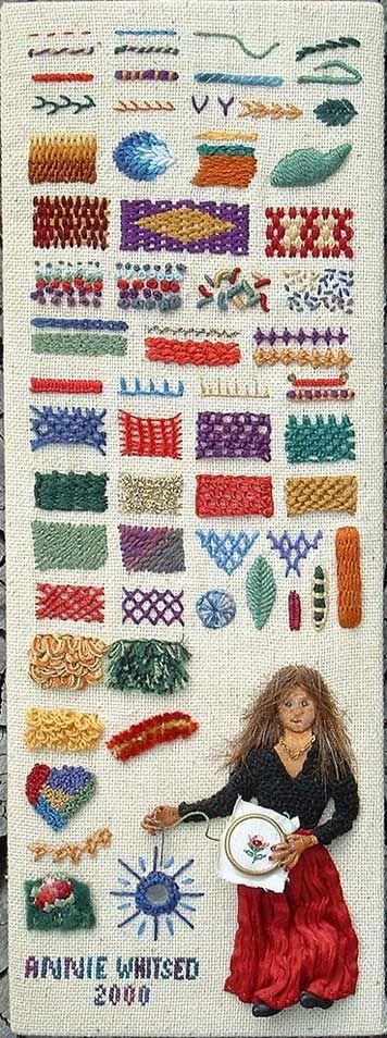 The Stumpwork Sampler - embroidery