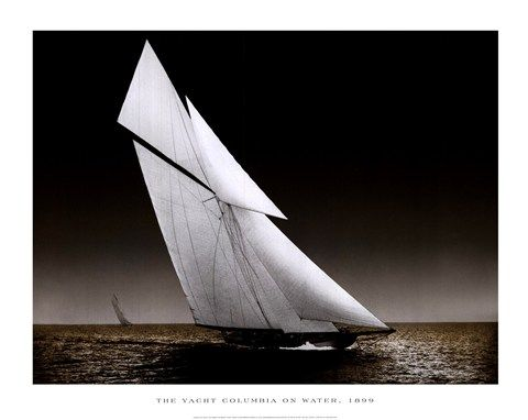 Columbia, 1899: Beach Art, Water, Classic Yachts, Framedart Com, Yacht Columbia, Appreciating Art, Framed Yacht, Sailing Yachts, 1899 Print