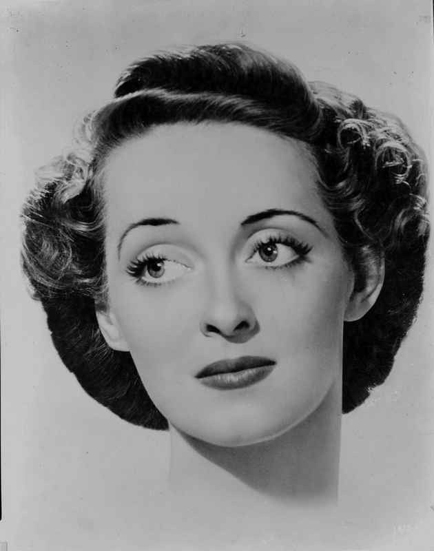 Bette Davis Portrait with Eyes Looking Slight to the Right with Perm Black Hair | eBay