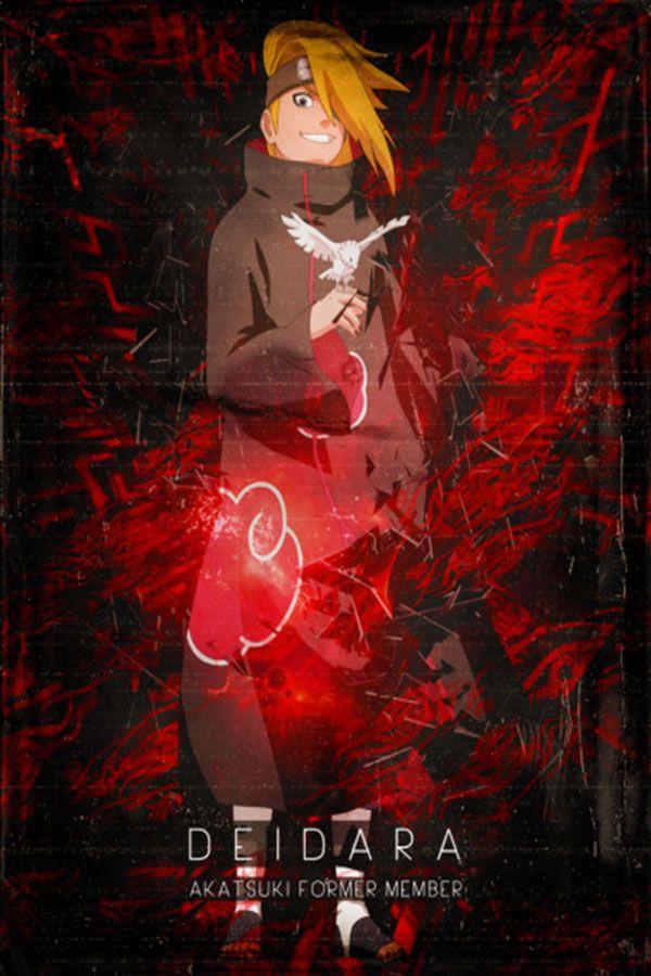 Akatsuki Deidara Anime Manga Poster Print Metal Posters Akatsuki