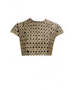 Kmozi Black Embroidered Pack-Neck Blouse Material..  http://www.kmozi.com/designer-blouse/kmozi-black-embroidered-pack-neck-blouse-material-430