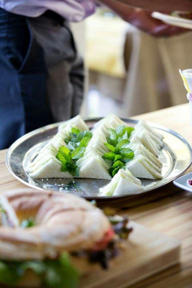 Picnic Wedding food : Cucumber  sandwiches