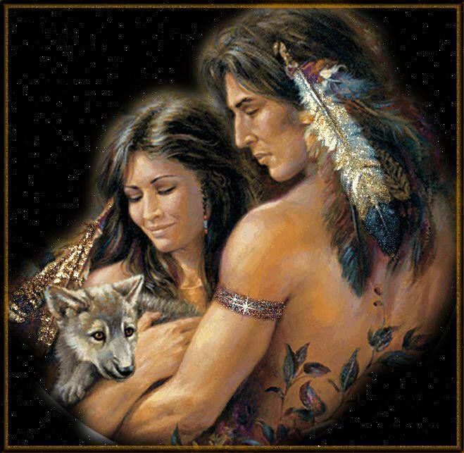 two lovers meet aboriginal artist