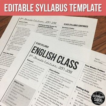 Does your class syllabus need a makeover, or not sure how to start yours? This modern newsletter-style template is a great starting point for new or veteran teachers, especially for ELA teachers who might want the literary newspaper feel!
