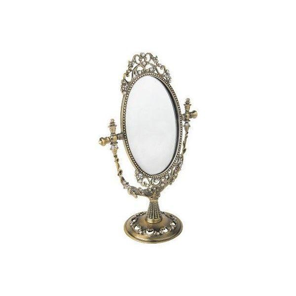 GOTHIC   SPECCHIO [COLORE: ORO]   SPECCHIO   Specchi e targhe   EMP... ($28) ❤ liked on Polyvore featuring mirrors, decor and furniture