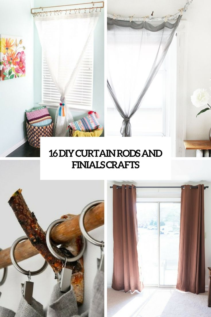 diy curtain rods and finials crafts cover | www.homeology.co.za   #curtains #blinds #decor #home