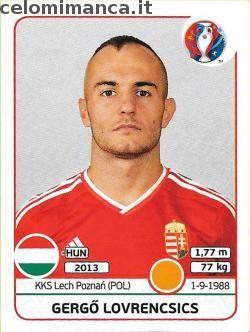 UEFA EURO 2016™ Official Sticker Album: Fronte Figurina n. 675 Gergő Lovrencsics