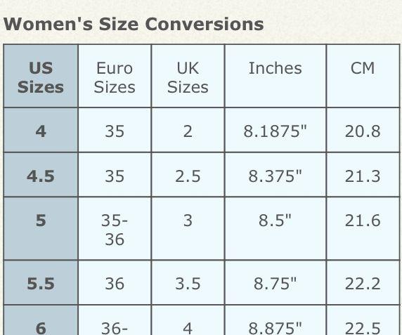 Guatemala Shoe Size Conversion To Us