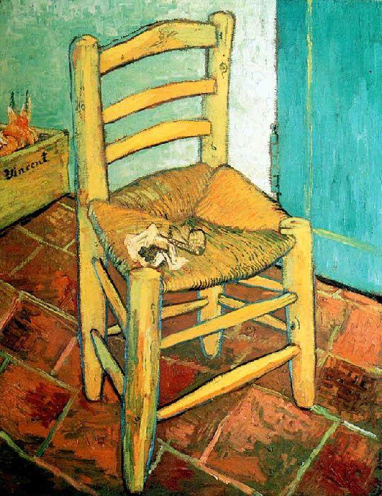 Vincent Van Gogh - Post Impressionism - Arles - La chaise de l'artiste - The chair of the Artist.