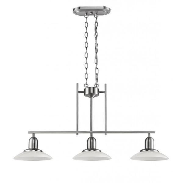 Chloe Lighting Contemporary Brushed Nickel 3-light Island/Pool Table Light $150 overstock