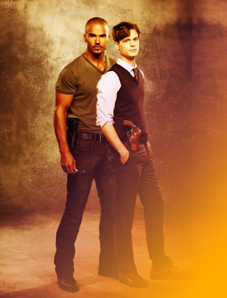 Derrick Morgan and Dr. Spencer Reid..... the things i'd do to get in the middle of them two lol