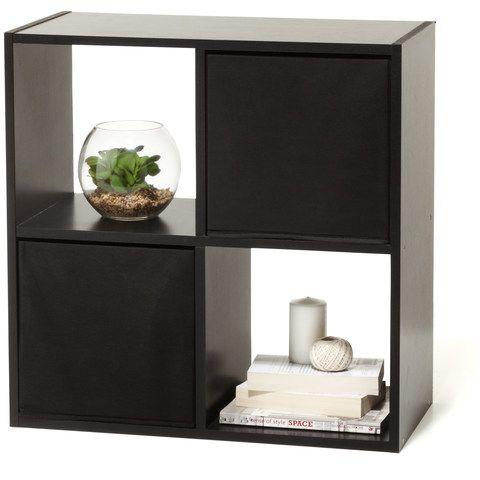 4 Cube Storage Unit - Black