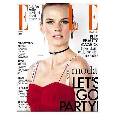 Anne Vyalitsyna for Elle Italia January 2017