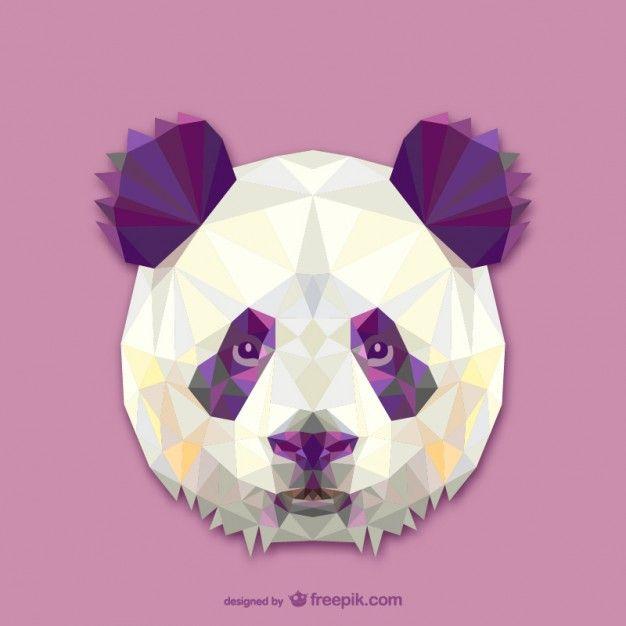 Projeto triângulo panda Vetor grátis