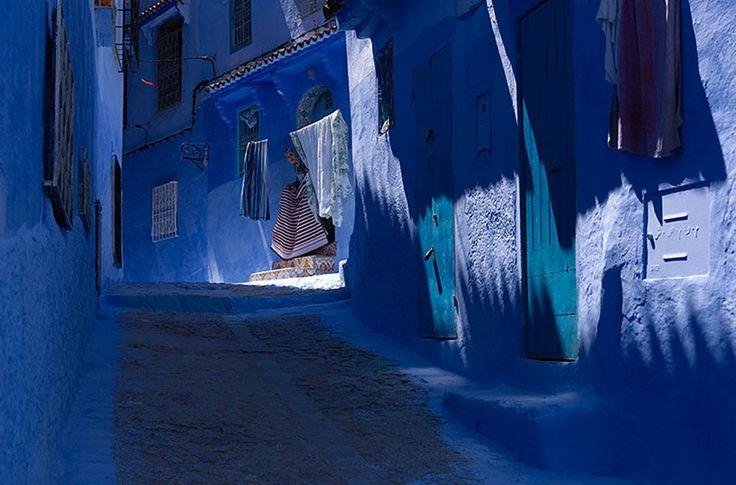 Unpueblo azul como decuento dehadas