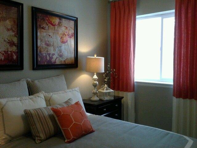 Grey and orange bedroom my bedroom pinterest - Grey and orange bedroom ...