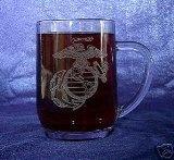 Custom Etched USMC Emblem on 20 oz Mug (1)