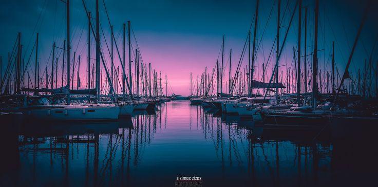 On line - Boats on line