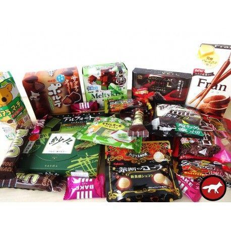 Assortment of japanese chocolate Assortiment de chocolats japonais