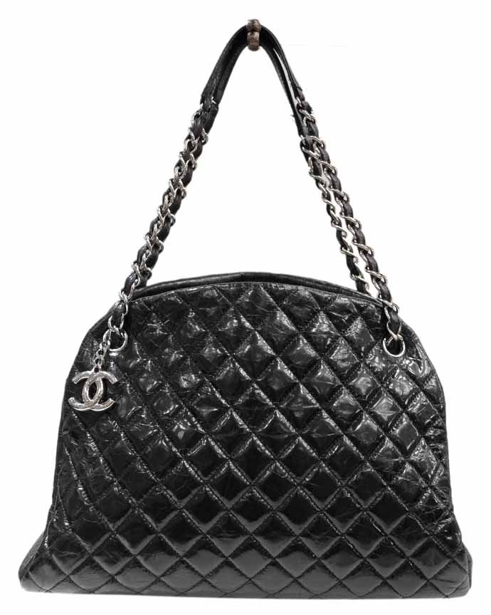 cc9281a0e505a0 Chanel Patent Leather 2011 Just Mademoiselle Large Bowling Bag at MALLERIES
