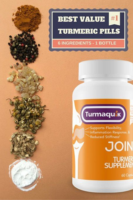 The #1 Best Value Turmeric Supplement! Unlike ordinary turmeric products, Turmaquik comes with turmeric & 5 powerful boosters. The formula is the ONLY one with Meriva Curcumin, BioPerine black pepper extract, Boswellia resin, Chammomile flowers, Ginger tears, and Calcium.
