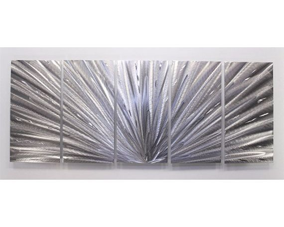 Large Silver Wall Decor: Silver Metal Wall Sculpture