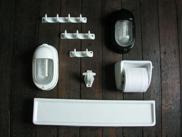 Bathroom Shelf Ceramic White Tinsmiths Linen And