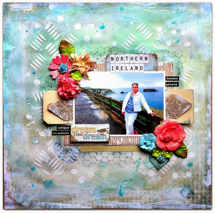 Scraps of Elegance: Cape May Holiday Kit - layout by Bente Fagerberg.  www.scrapsofdarkness.com/ScrapsOfElegance