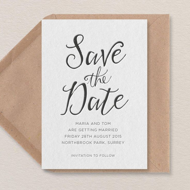 rustic calligraphy save the date