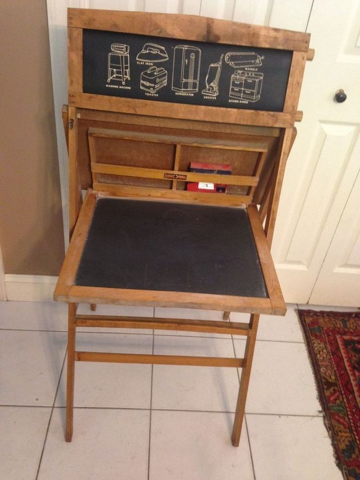 1930's Vintage Child's Chalkboard Easel with Paper Scroll ...