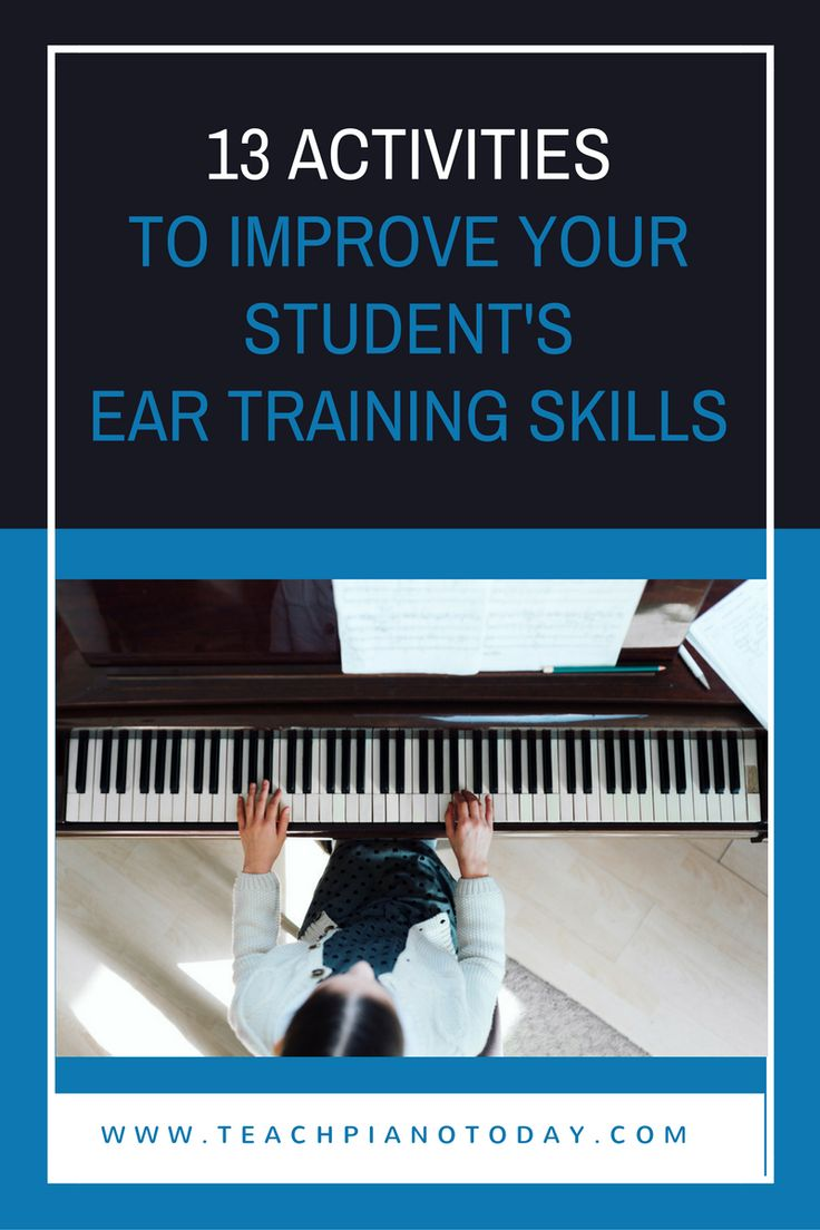 Go beyond just the regular clap backs and play backs and use these 13 exercises to really improve your piano student's listening skills!